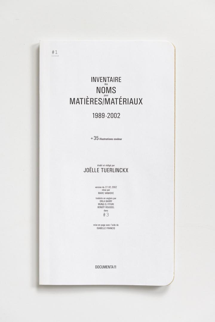 #Livrets Documenta 11: 21 - Inventaris van de aanduiding van materiaal 1989-2002 + 25 kleurillustraties