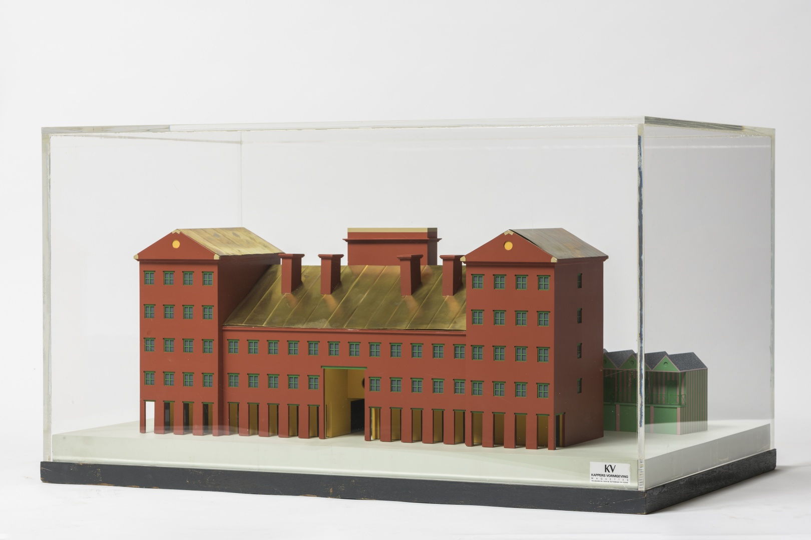Maquette woonblok in Viadana