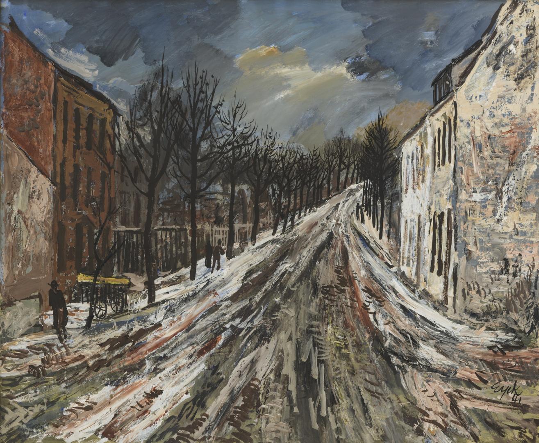 Straat in de winter