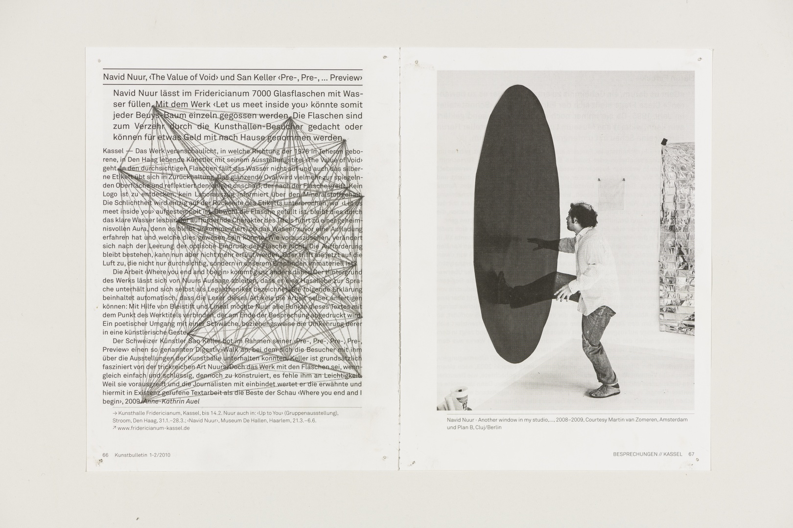 Where you end and I begin: Navid Nuur. 'The value of void.' Uit: Kassel Kunstbulletin 66. 01-02-2010.