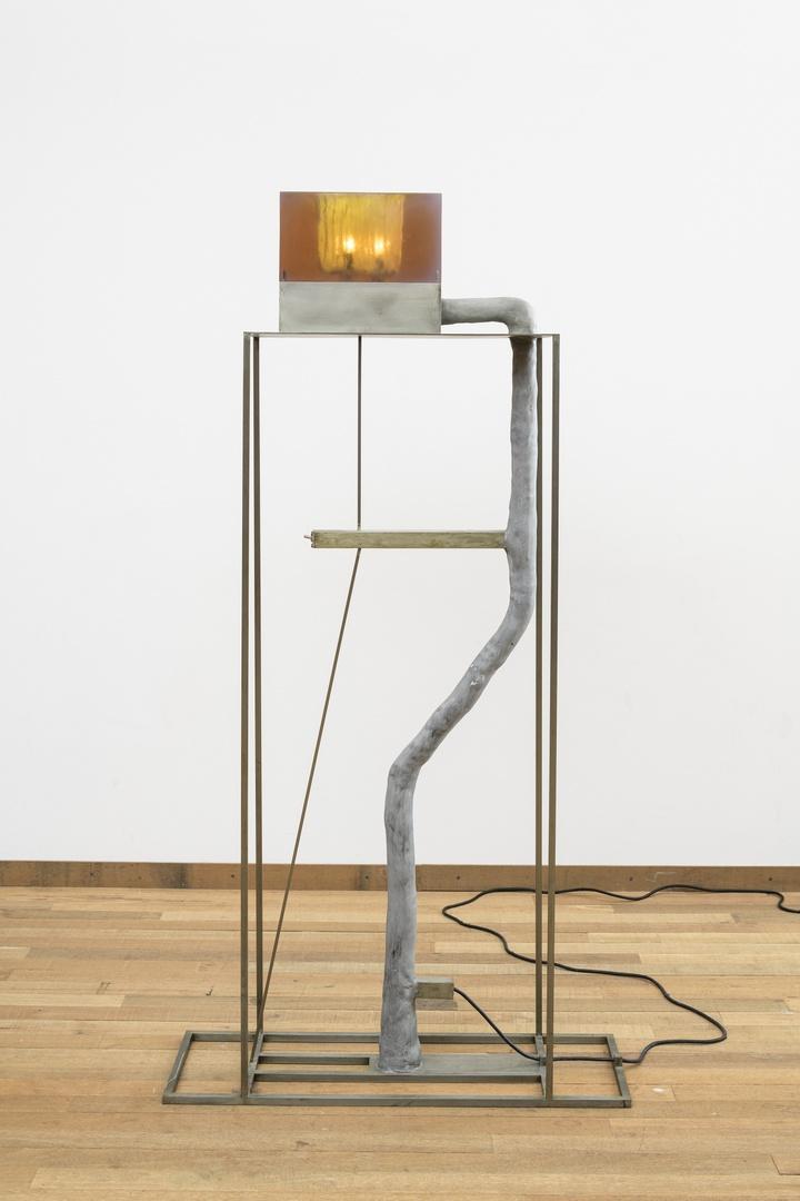 Gray Amber Lamp
