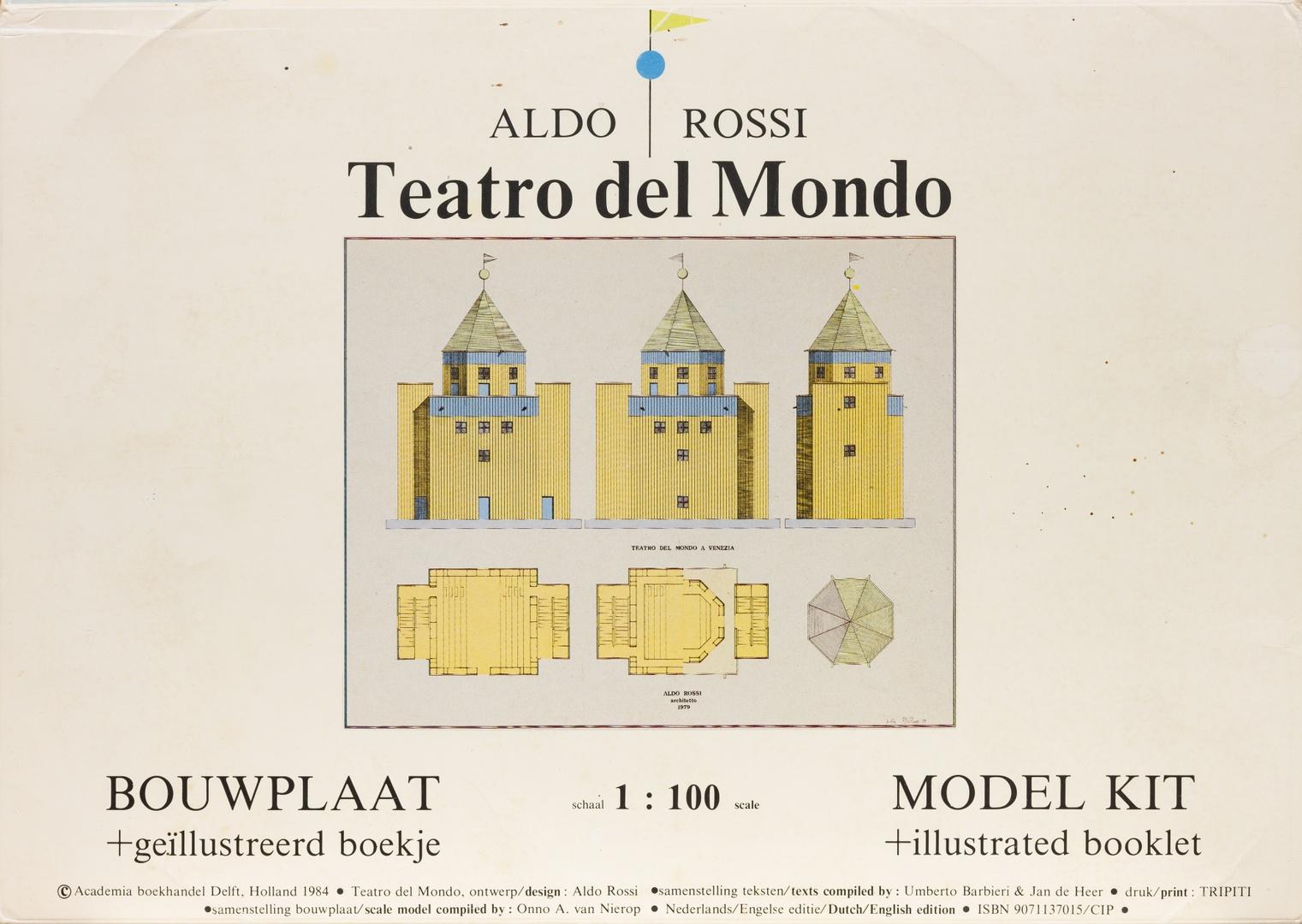 Teatro del Mondo, bouwplaat en geïllustreerd boekje