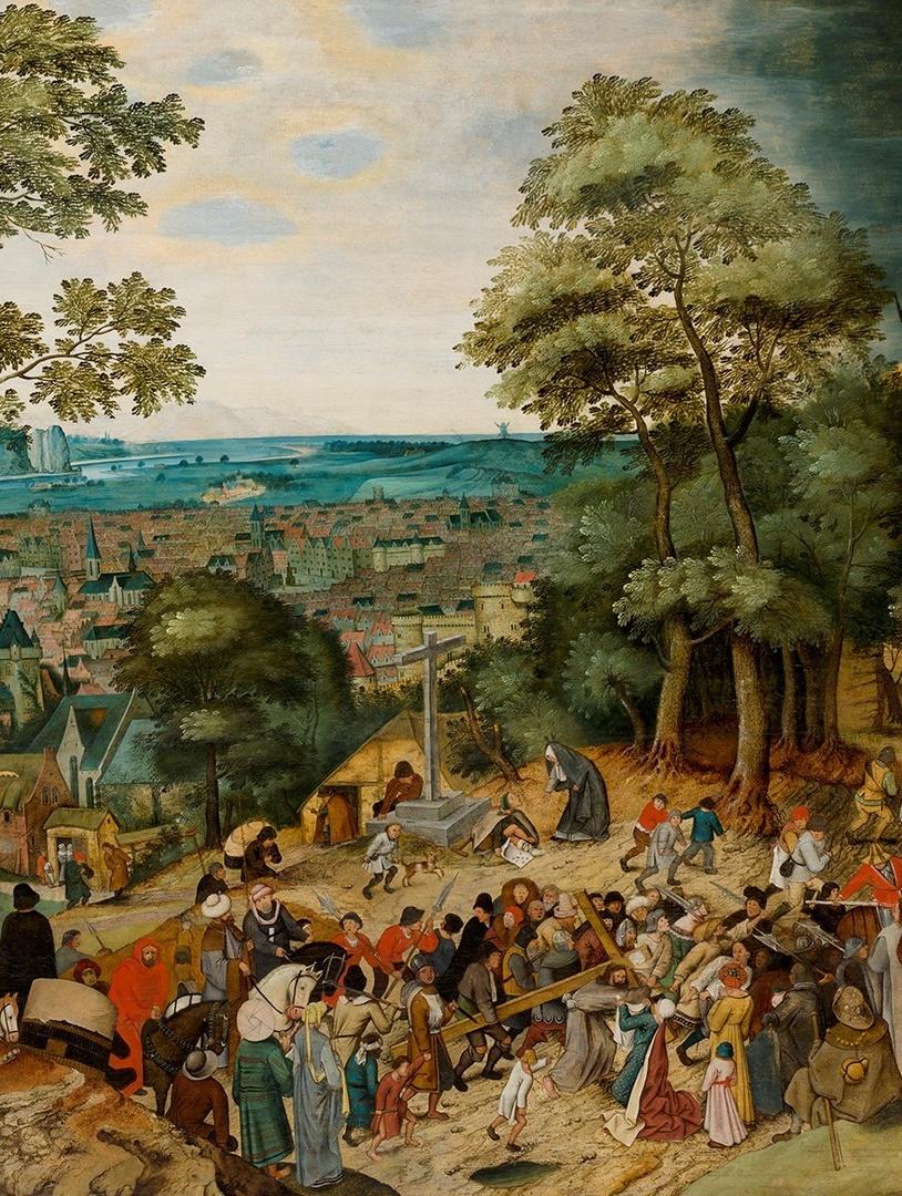 Kruisdraging (detail), Pieter Brueghel II, Bonnefanten